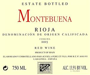 Montebuena Rioja 2015